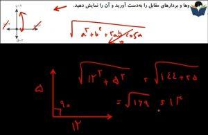 آموزش فیزیک دوم دبیرستان مبحث بردار برایند ارائه درسنامه از مهندس رضا منصف
