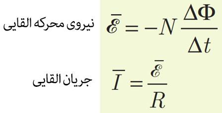 نیرو محرکه القایی جریان القایی فیزیک یازدهم فصل سوم